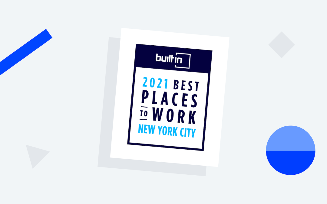 Onna takes third place in Built In NYC's 100 Best Places to Work 2021