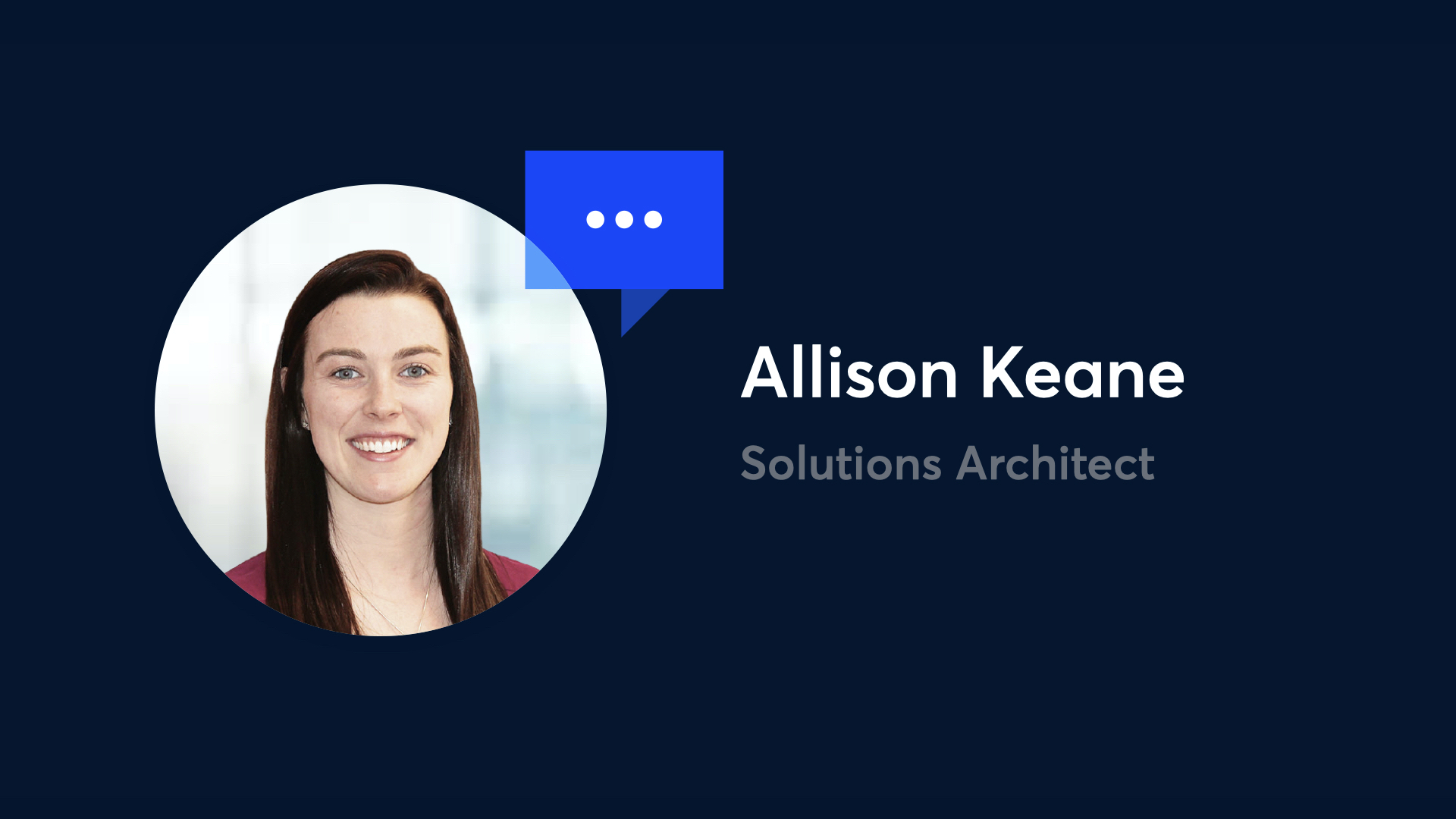 photo of Allison Keane, Solutions Architect at Onna